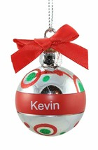 Ganz Personalized Mini Round Plastic Ball Christmas Ornament Assorted NEW - $4.99