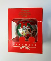 1993 Walt Disney Characters Glass Christmas Ball Ornament with 1994 Cale... - $6.50