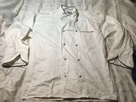 Uncommon Threads 0445C-2504 San Marco Chef Coat in White with Black Pipi... - $24.75