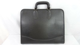 "VTG NSM Black Leather Full Zip Portfolio Case - 16 1/2"" x 13"" - $19.79"