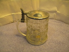 Vintage GENUINE CRYSTAL AND SILVERPLATE Covered Mug by Leonard ITALY - $14.85
