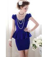 Forever Classy Lady. Royal Blue Peplum Dress. Work Dress Cocktail Dress - $79.90