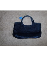 Blue Jean Satchel Sparkle Shimmer Purse Handbag - $10.97