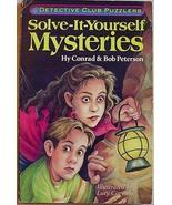 DETECTIVE CLUB PUZZLERS Solve-It-Yourself Mysteries pb - $2.00