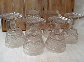 Imperial Glass Cape Cod Clear Set of 6 Champagne Stems Glasses image 7