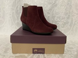 WOMENS CLARKS COLLECTION CRYSTAL QUARTZ LEATHER ANKLE BOOTS 9 1/2 M MARO... - $35.99