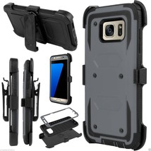 For Samsung Galaxy S7 Edge Hard Outer Box Case Cover w/ Belt Clip Holste... - $173,64 MXN