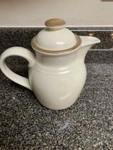 Madera Ivory by Noritake Tea Coffee Pot Ivory Background Brown Band - $64.35