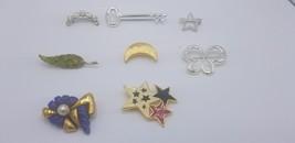Lot Of 8 Vintage & Modern Pins / Brooches W/ Rhinestones, Enamel, Silver... - $19.32