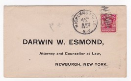DARWIN W. ESMOND ATTORNEY AND COUNSELLOR AT LAW HIGHLAND FALLS NY 1/14/1907 - $1.78