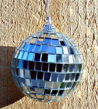 TWO DISCO BALLS ~ 2.5 inch Party Decoration with Mirrors ~ Christmas Orn... - $9.40