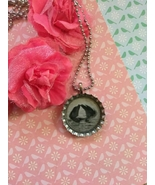Greyscale Dolphin Pair Bottle Cap Necklace - $4.00