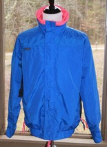 Columbia Size Tall Large Men's Ski Snowboard Radial Sleeve Blue Pink Jacket (AK) - $37.99