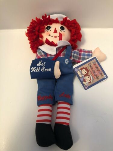 "Primary image for Aurora Raggedy Ann & Andy - Raggedy Andy Get Well Soon 10"" Plush A15"