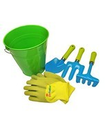 G & F 10051 JustForKids Kids Water Pail with Garden Tools Set and Gloves... - £14.34 GBP