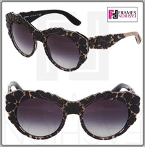 Dolce & Gabbana Mamas Brocade Black Texture Gradient Cat Eye Sunglasses ... - $285.12