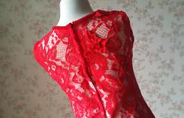 Pageant Red Lace Tutu High Waist Flower Girl Dress 2-Way Girl Birthday Dress NWT image 13