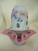 Fenton Blue Burmese Fairy Tea Light 7501 TA   1999  NIB - $218.50