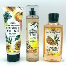 Bath & Body Works Clementine & Mint Leaves Mist, Cream, and Shower Gel 3... - $33.32