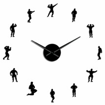 Large Bodybuilding DIY Wall Clock Big Muscles Training Sports Fitness GY... - $36.40+