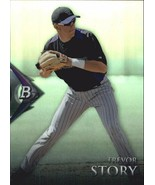TREVOR STORY RC 2014 BOWMAN PLATINUM REFRACTOR ROOKIE CARD-COLORADO ROCK... - $9.89