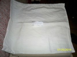 New X Large Victoria Beckham 17x19 dust bag white with black logo - $23.75