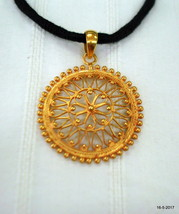ethnic sterling silver gold vermeil gold gilded pendant necklace handmade - $117.81