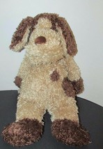 "15"" Jellycat Bunglie Tan Brown Floppy Puppy Dog spots shaggy used - $9.89"