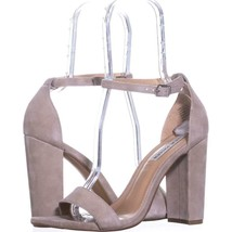 Steve Madden Carrson Ankle Strap Dress Sandals 718, Taupe Suede, 10 US - $30.71