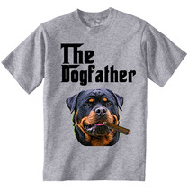 Rottweiler Godfather Mafia - New Cotton Grey Tshirt - $21.31