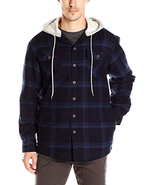 Wrangler Authentics Men's Long Sleeve Quilted Lined Flannel Jacket W/ Ho... - $38.99+