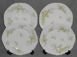 Haviland Porcelain BRETAGNE PATTERN Set (4) Luncheon PLates LIMOGES FRANCE - $59.39