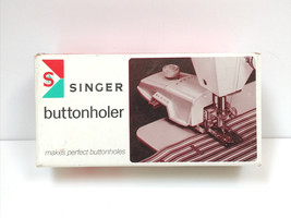 VTG Singer Buttonholer 1960 489510 With 4 cams, Original box + Manual SIMS 4561 - $14.84