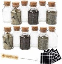 CUCUMI 12pcs 150ml Glass Spice Jars Reusable Spice Jars Bottles Glass Co... - £18.80 GBP
