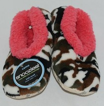 Snoozies Brand KCM005 Pink Dark Camouflage Girls House Slippers Size S image 1