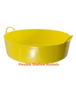 Yellow Flexible Feed Buckets Garden Kids Small Sand Ball Pit Pet Pool Wa... - $28.00