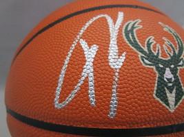 GIANNIS ANTETOKOUNMPO / AUTHOGRAPHED BUCKS LOGO FULL SIZE NBA BASKETBALL / JSA image 2