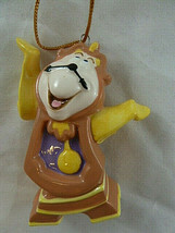 """Disney Beauty And The Beast Cogsworth Porcelain Christmas Ornament 3.25""""... - $8.90"""