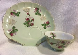 Lefton China Hand Painted Roses & Gold Luncheon Set (4) - $32.71
