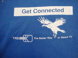 Vintage Get Connected TKS The Better Way To Watch TV Blue T Shirt Size XL - $16.34