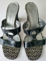 Womens Sandals Size 7 Platform AK Anne Klein Block High Heels Black, Zapato sz 7 - $17.82