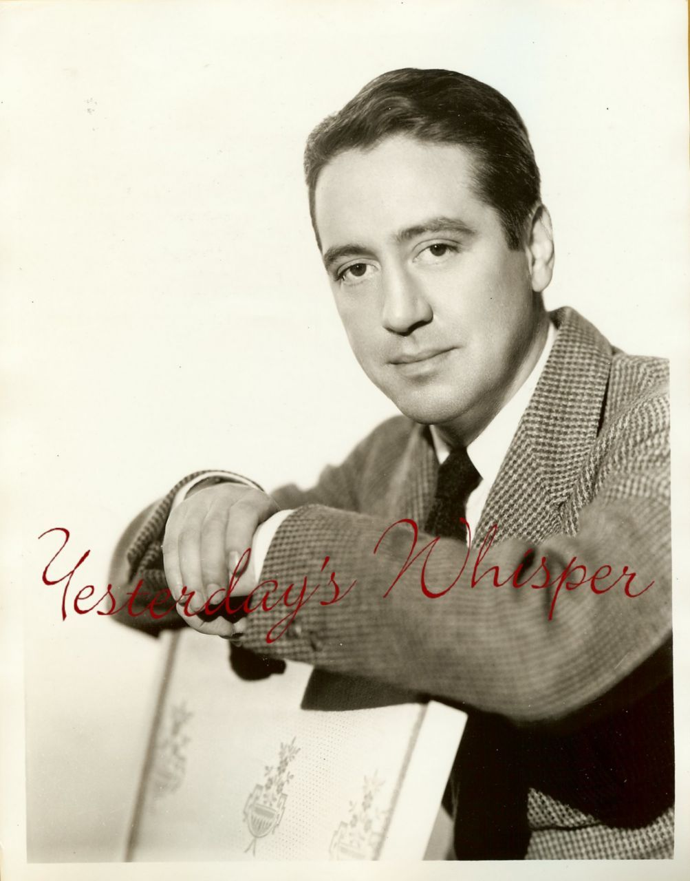 VINTAGE James MEIGHAN Broadway RADIO Actor Promo PHOTO