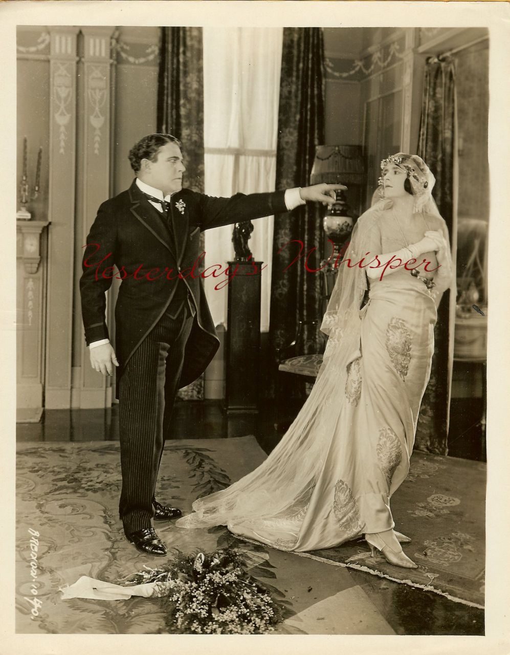 1920s Wiliam Farnum Myrna Bonillas Bride Vintage Photo