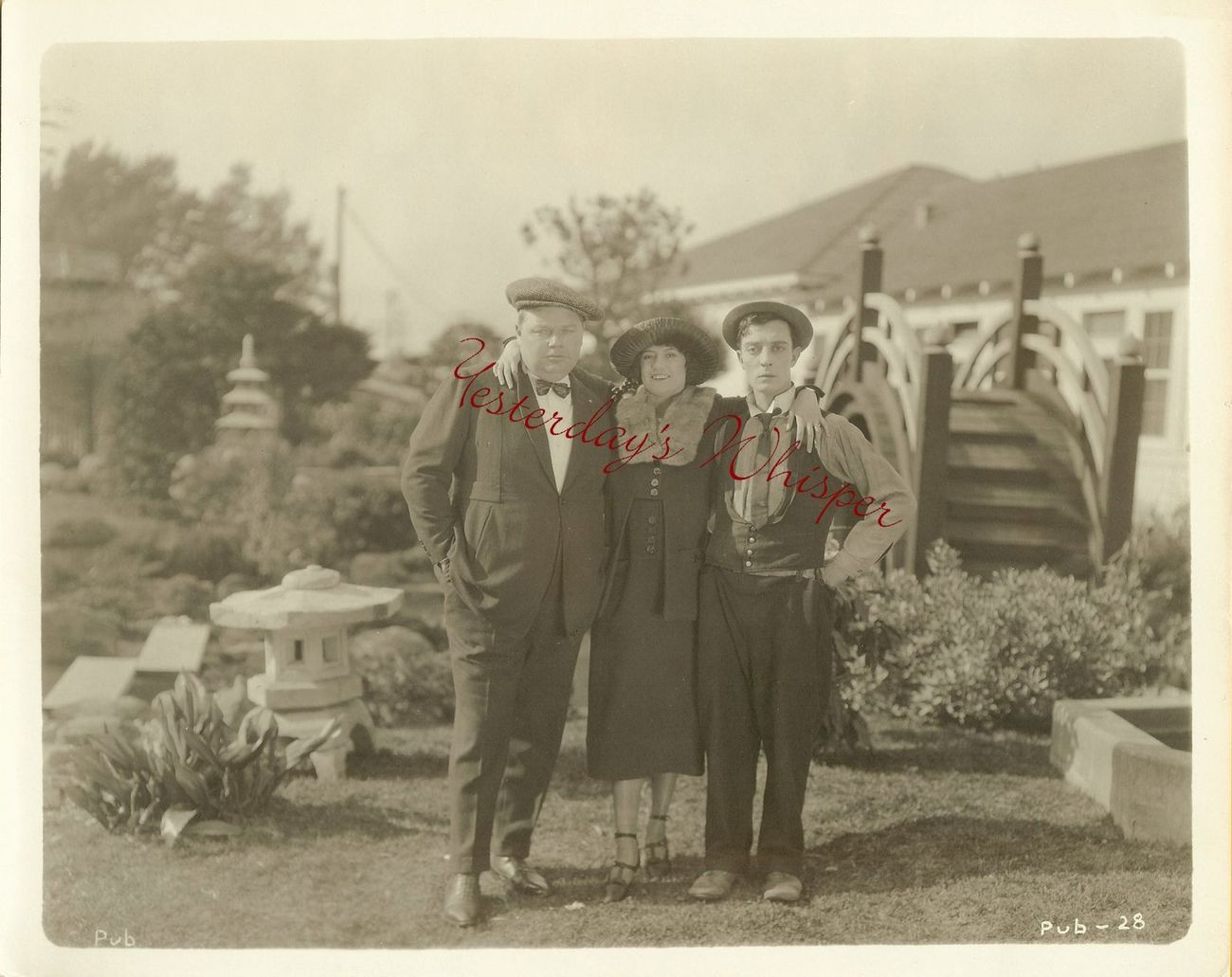 RARE 1920s Fatty ARBUCKLE Buster KEATON Rare Original Photo M367