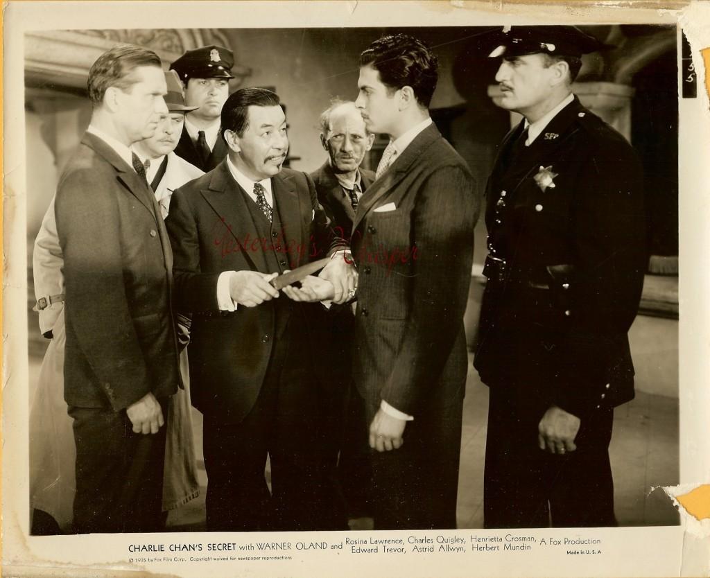 Charlie Chans Sectret Warner Oland  vintage 8x10 Photo
