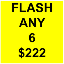 SPECIAL THURS FLASH PICK ANY 6 FOR $222  DEAL BEST OFFERS DISCOUNT MAGICK  - $222.00