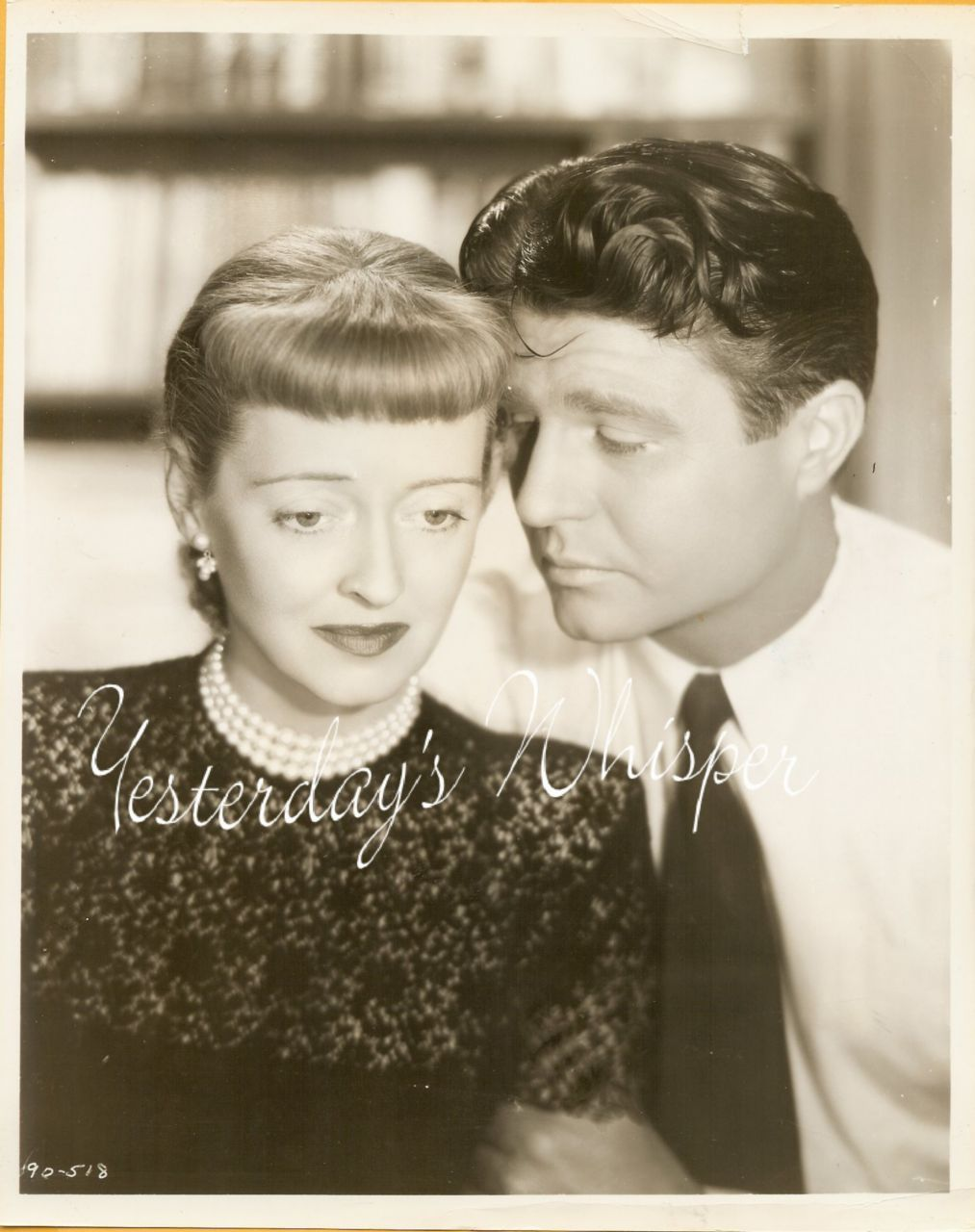 Bette Davis Jim Davis Winter Meeting Vintage Film Photo