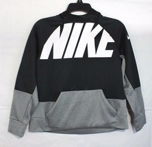 Nike youth girls sweatshirt hoodie long sleeve black gray size L - $18.70