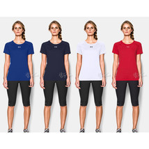 NWT Under Armour Women's Workout Short Sleeve Heat Gear Shirt - $24.99