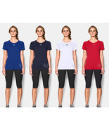 NWT Under Armour Women's Workout Short Sleeve Heat Gear Shirt - £18.30 GBP